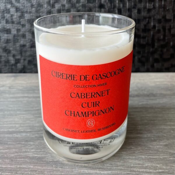 bougie cabernet cuir champi rouge